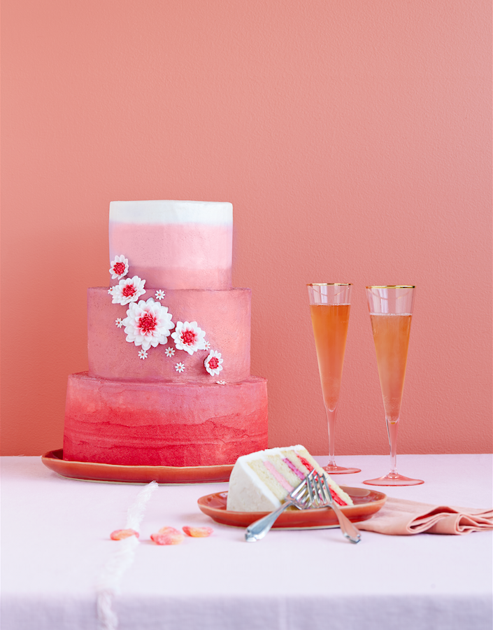PW-coral cake
