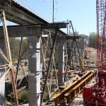 Crum Creek Viaduct construction