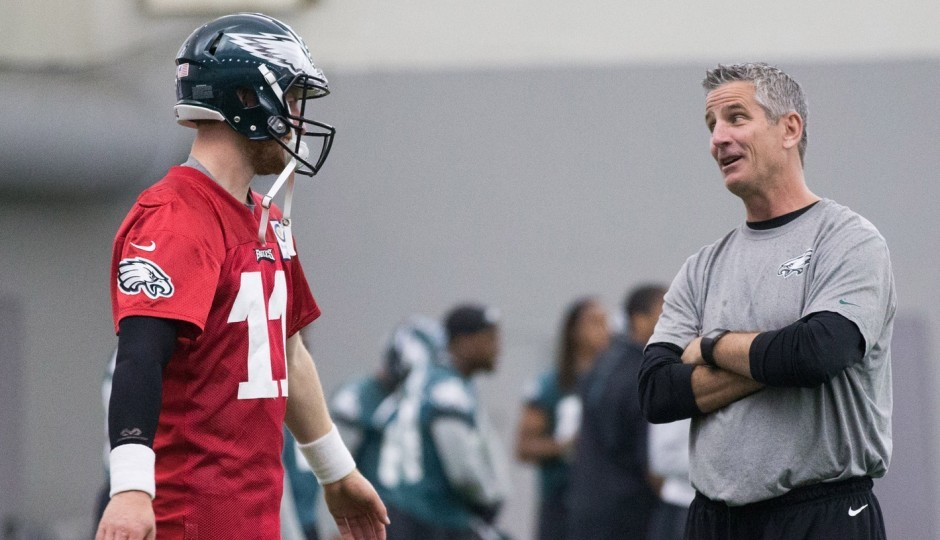Carson Wentz and Frank Reich. (USA Today Sports)