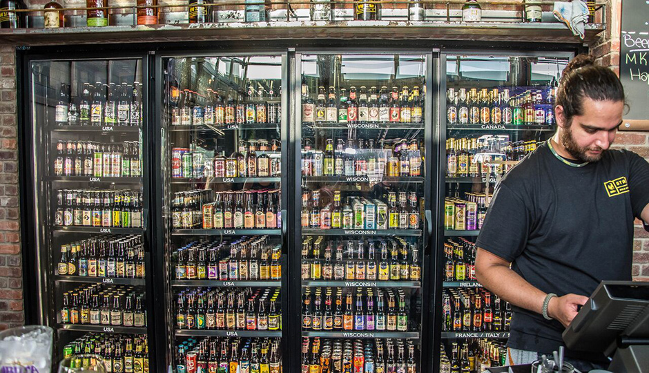 50 beers on tap and another 500 by bottle and can.