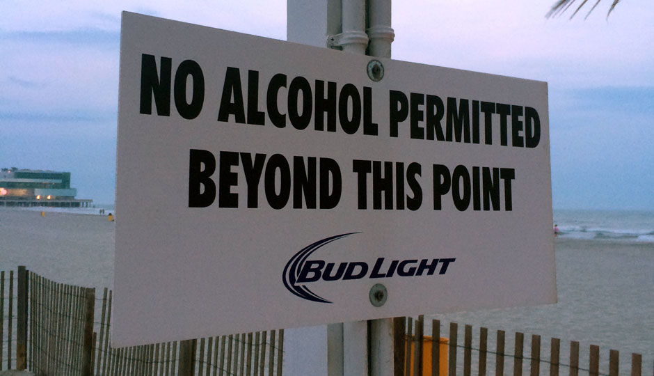 Atlantic City beach bar sign