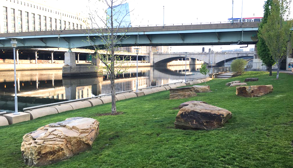 The boulders along the Schuylkill River Trail | Photo by Jordan Hankins
