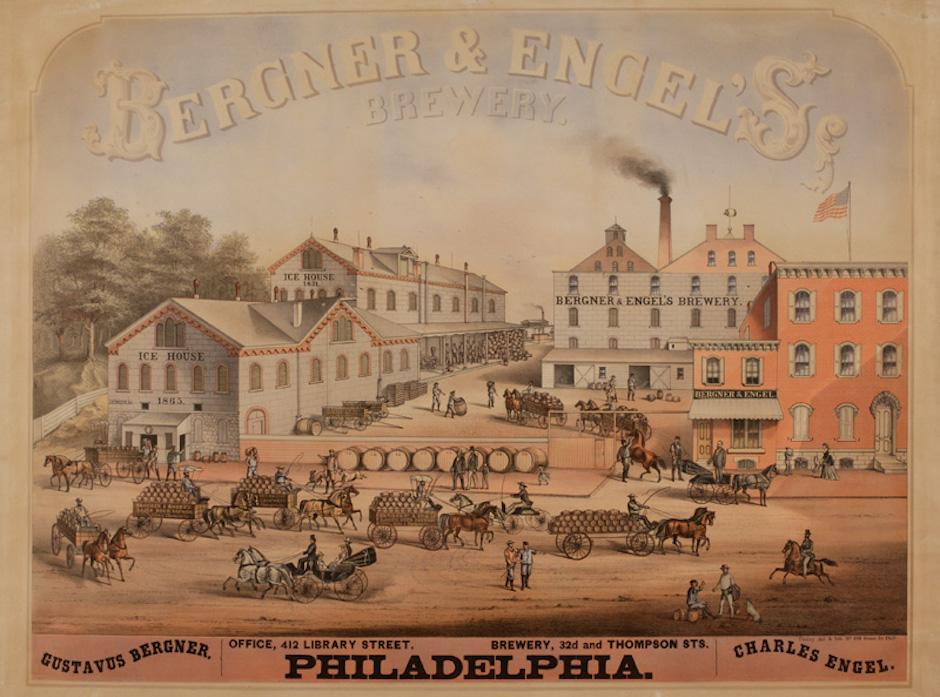 Bergner & Engel's Brewery via the Library Company of Philadelphia
