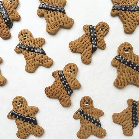 These gingerbread wookies from Bakeshop on 20th might be the most adorable Star Wars tie in we've seen.