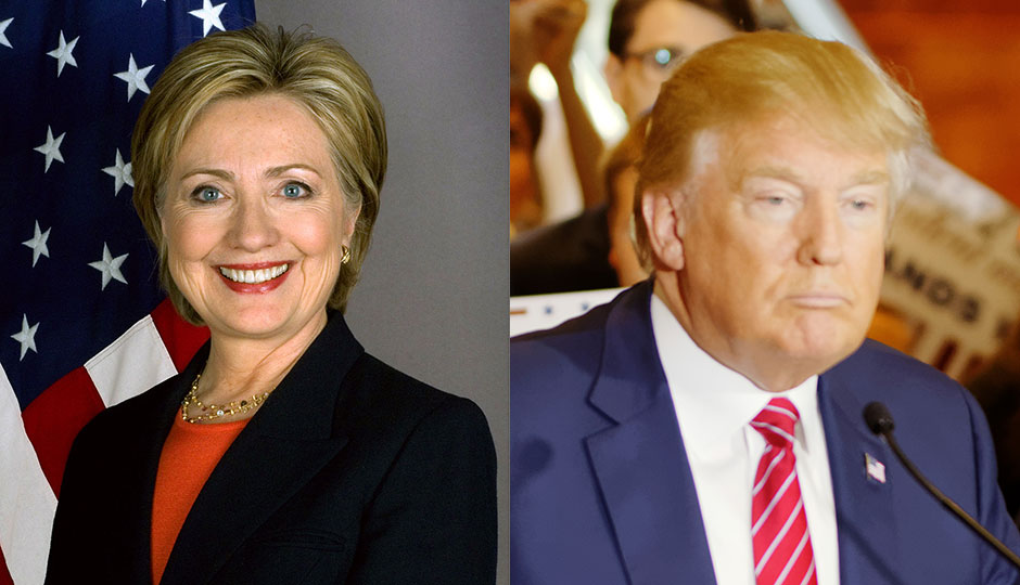 Hillary Clinton, Donald Trump