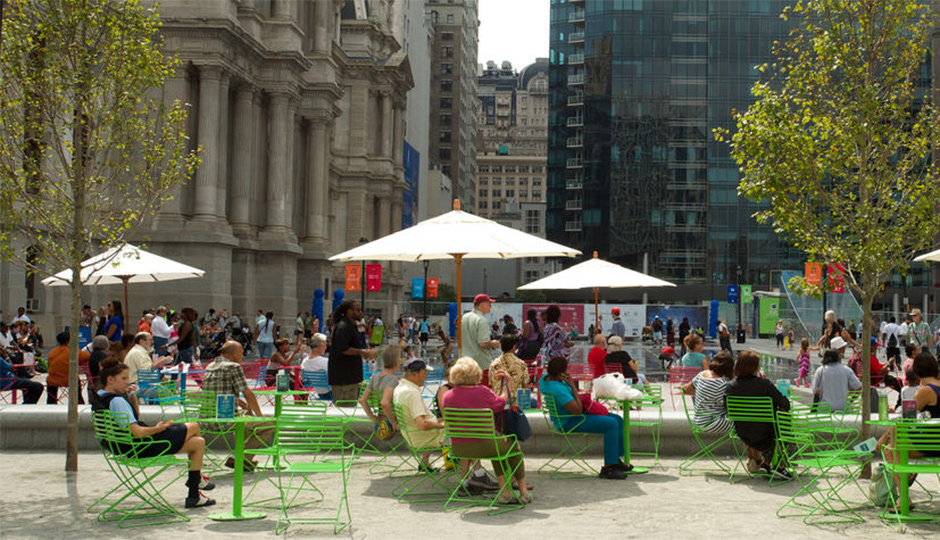 dilworth park view from cafe 940