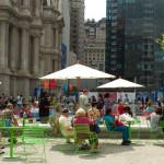 Dilworth Park viewed from the Cafe | Photo via Center City District