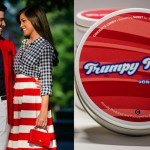Left: TK and Samantha Gutièrrez. (Photo by JPG Photography) Right: Product shot of Trumpy Taffy.