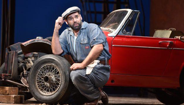 Dimitri Pittas as Nemorino in Elixir of Love at Opera Philadelphia. (Photo by Kelly & Massa)