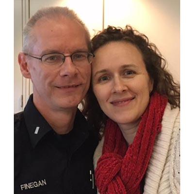 Bill Finegan and his wife, Clare.