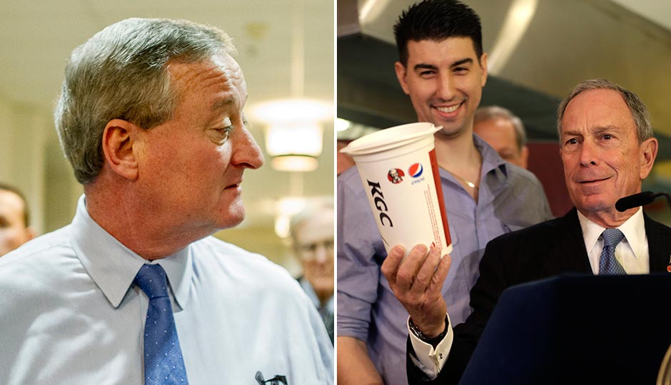 Jim Kenney (Photo | Jeff Fusco), Michael Bloomberg in a 2013 file photo. (Photo | Seth Wenig, AP)