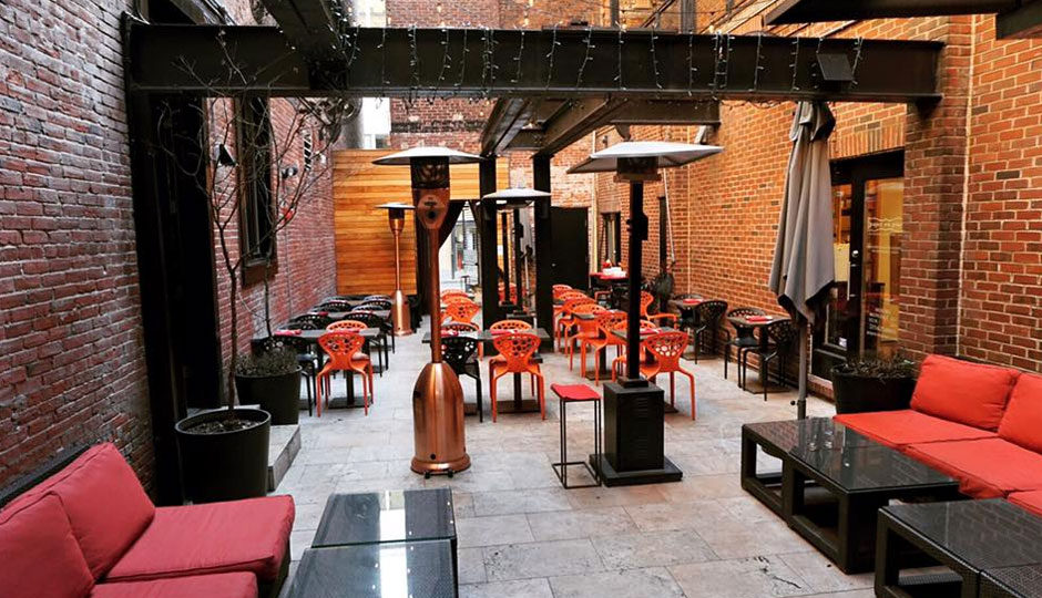The semi-secret courtyard at Raw.