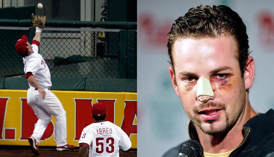 Aaron Rowand broken nose catch