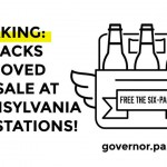 Six packs of beer at Pennsylvania gas stations