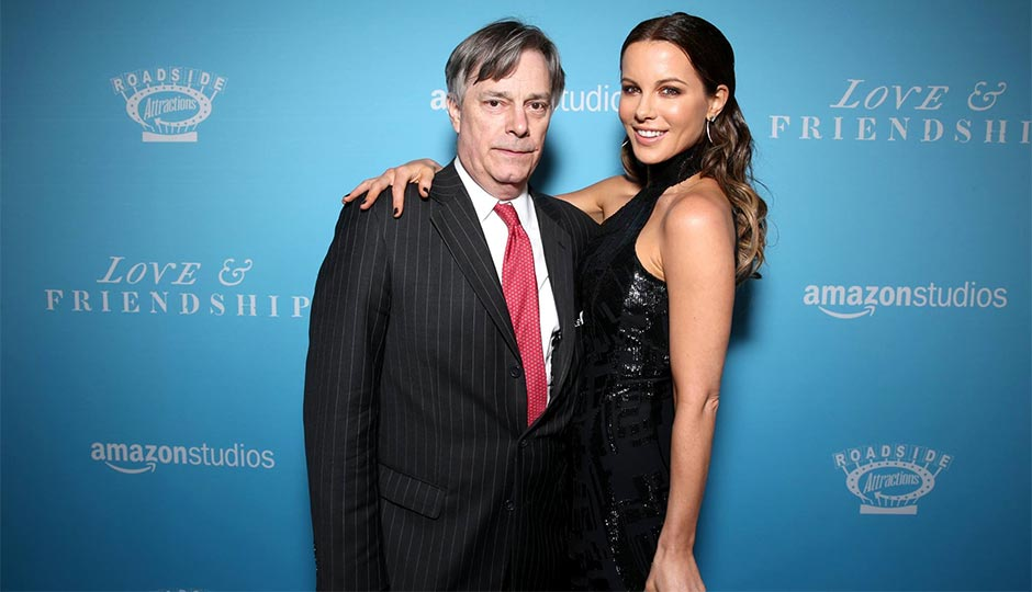 "Whit Stillman, director of ""Love & Friendship,"" with star Kate Beckinsale."