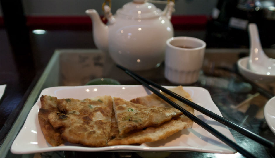 The Scallion Pancakes at Tom's Dim Sum | Photo by Claudia Gavin