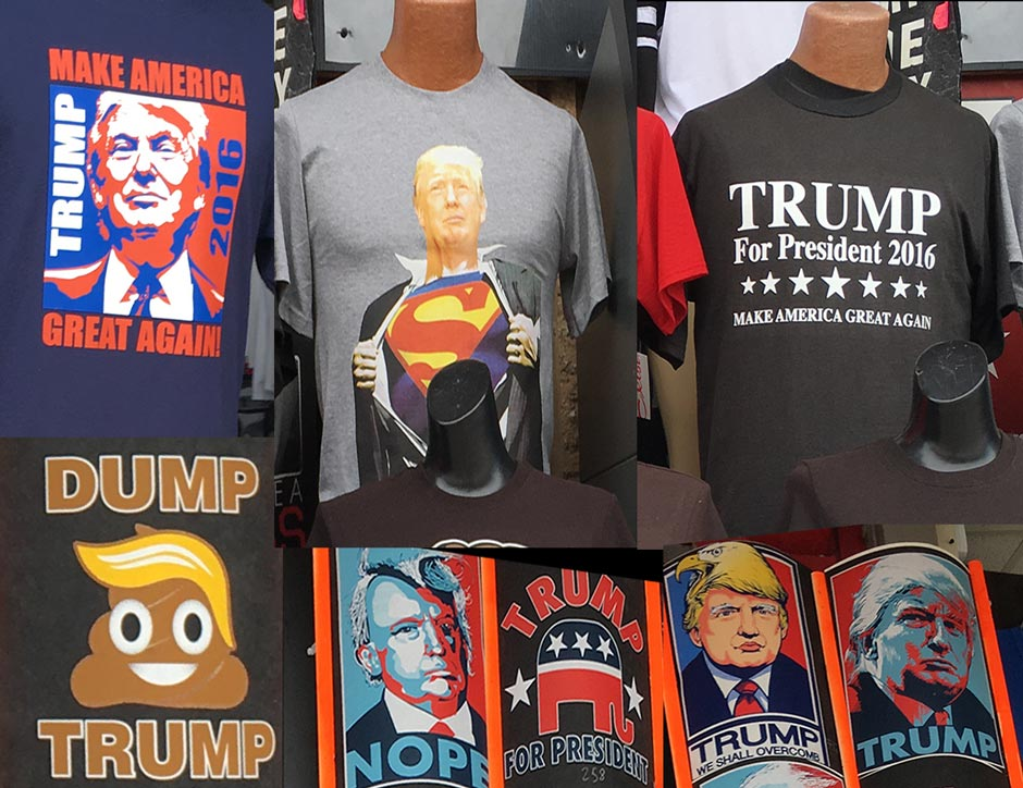 Wildwood boardwalk t-shirts - Trump