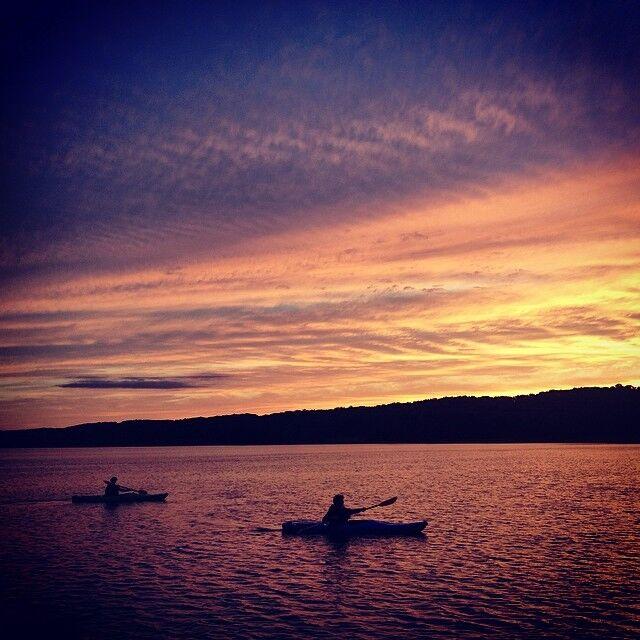 Kayakers at Sunset   Madison L.