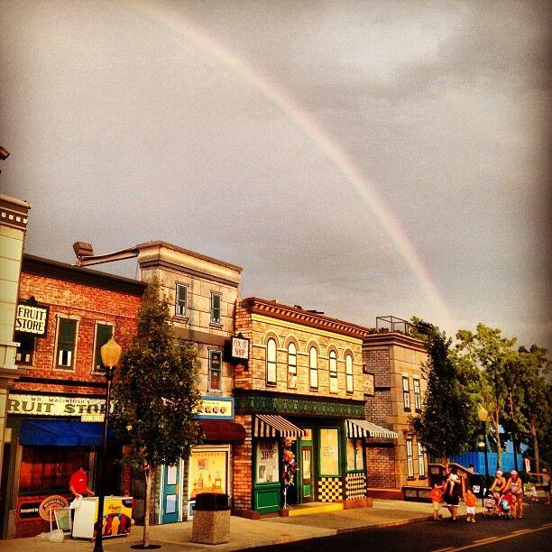Rainbow over Sesame Place   Nick Endo