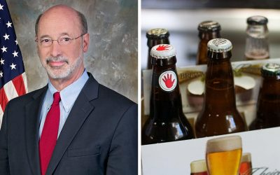 Tom Wolf - six pack of beer