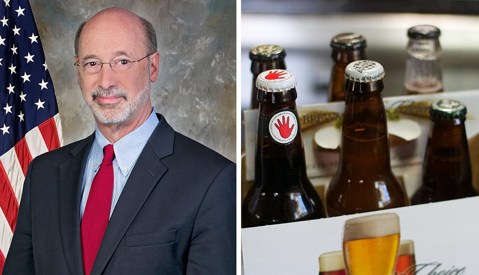 Tom Wolf - six pack of beer