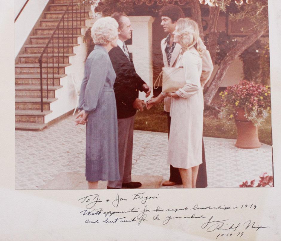 Jim Fregosi and Richard Nixon