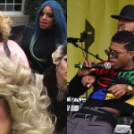 Left: Some of the Philly drag queens who performed at the ADL event strike a pose, as they are ought to do (Photo via Facebook). Right: Rapper Yazz the Greatest performing at the ADL event (Photo via Hugh E Dillon).
