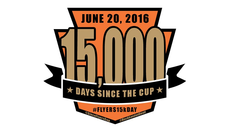 15,000 days since the last Flyers Stanley Cup logo
