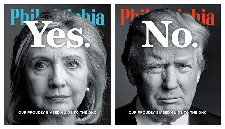 Hillary Clinton photograph by Martin Schoeller/AUGUST. Donald Trump photograph by Nigel Parry/CPi Syndication.