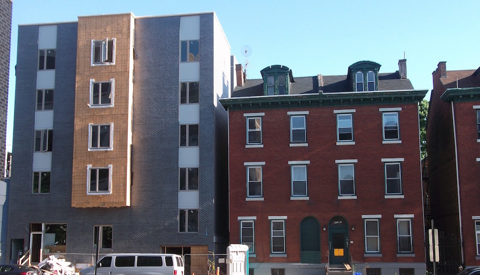 Dull density vs. handsome history. If this is the price of progress, can we get a refund? | Photo courtesy Naked Philly