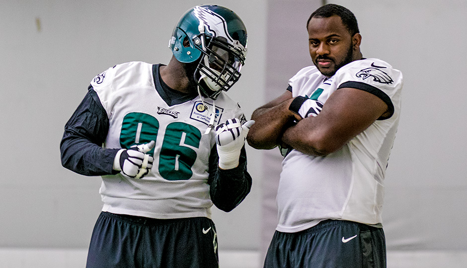Bennie Logan and Fletcher Cox. (Jeff Fusco)