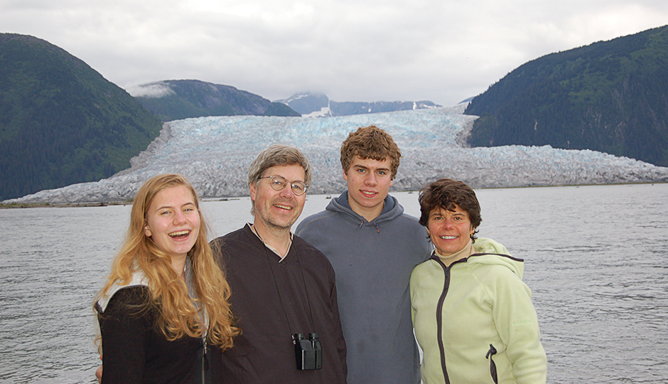 Anne Bryan with her parents and brother in Alaska, 2006. | Photograph provided by Nancy Winkler.
