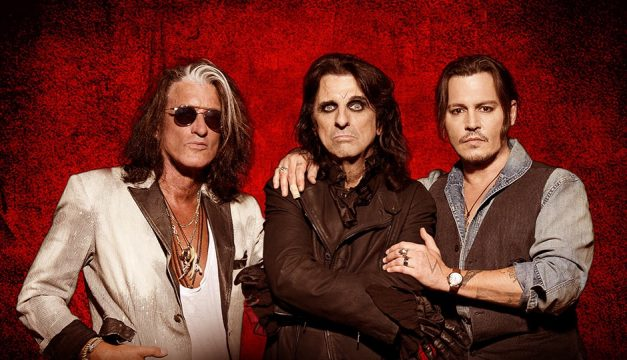 Hollywood Vampires Joe Perry, Alice Cooper and Johnny Depp.