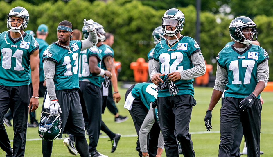 Jordan Matthews, Josh Huff, Rueben Randle, and Nelson Agholor. (Jeff Fusco)