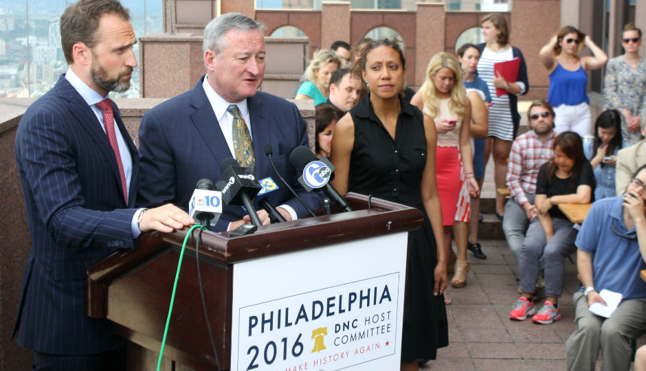 Mayor Kenney Asks Philadelphians to Stay for DNC. Photo by Jared Brey.