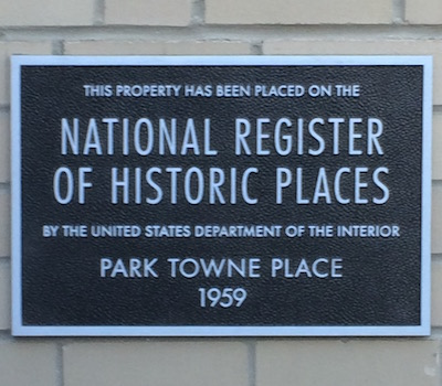 National Register plaque