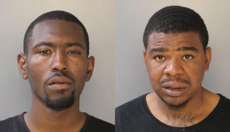 Lynel Henry and Ricky Mosley are charged with burglary of a Philadelphia Police officer's home.