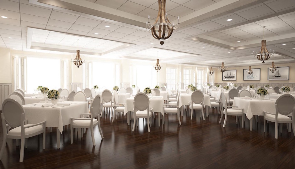 This rendering shows the inside of the new Breakwaters Ballroom.