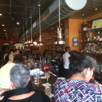The scene at Paris Bistro at happy hour on the Friday before Memorial Day. | Photo: Sandy Smith