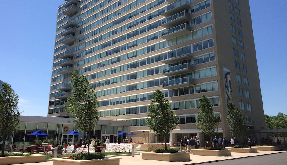 The rejuvenated South Tower and amenities complex at Park Towne Place. | Photos: Sandy Smith