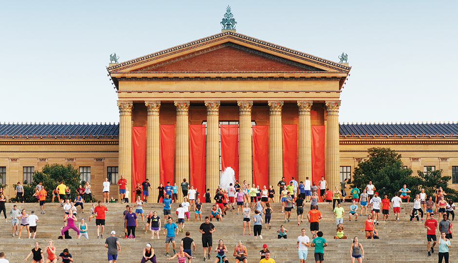 Philadelphia Art Museum Workouts: Fitness fanatics swarm the steps at the Philadelphia Museum of Art