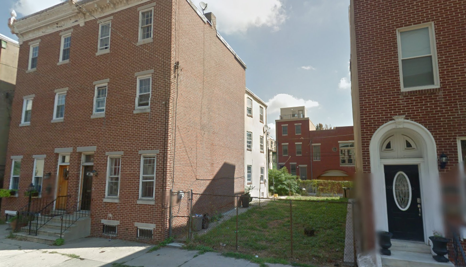 This vacant lot in the 1900 block of Brown Street is one of eight the city's Land Bank is offering free to developers, in the process advancing Council President Darrell Clarke's workforce housing initiative. | Google Maps image