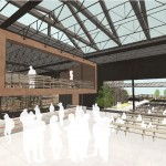 A conceptual rendering of the taproom at the proposed Yards Brewing Company brewpub. | Rendering by Digsau, courtesy Alliance HSB