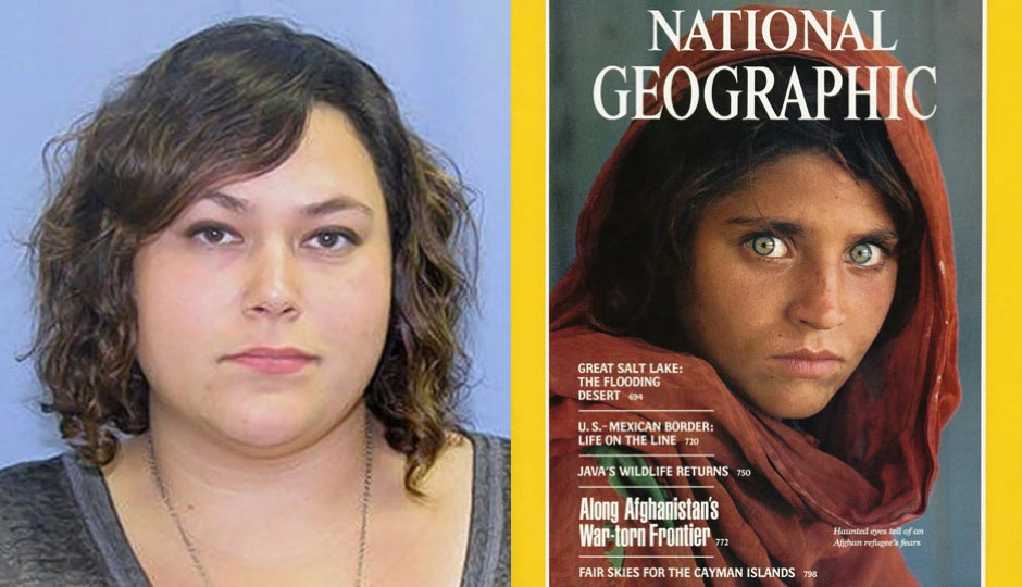 Bree DeStephano (left); McCurry's famous National Geographic cover photo (right).