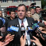 New Jersey Gov. Chris Christie answers questions after voting at Brookside Engine Company 1 firehouse Tuesday, June 7, 2016, in Mendham Township, N.J.