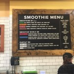 Menu at new Di Bruno Bros. smoothie bar | Photo by Adjua Fisher