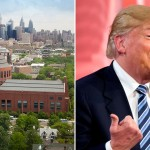 Wharton's Huntsman Hall By WestCoastivieS - via CC0. Donald Trump, Andrew Harnik, AP