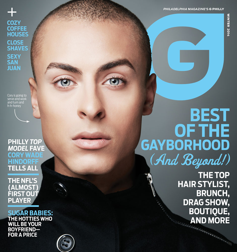 Cory Wade gracing the Winter 2014 cover of G Philly.