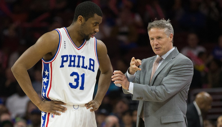The Sixers will pick up the team option for 2016-17 on Hollis Thompson's contract, according to multiple sources | Bill Streicher-USA TODAY Sports