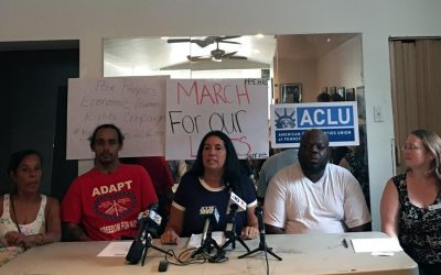 The Poor People's Economic Human Rights Campaign and the ACLU announce their lawsuit against Philadelphia